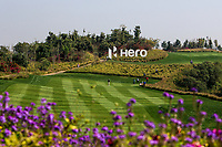 The 18th fairway during Round 4 of the Hero Indian Open at the DLF Golf and Country Club on Sunday 11th March 2018.<br /> Picture:  Thos Caffrey / www.golffile.ie<br /> <br /> All photo usage must carry mandatory copyright credit (&copy; Golffile | Thos Caffrey)