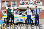 Shane Dean (Castlegregory), Supt Dan Keane, Cullen Lynch (Listowel), Aiden Keane (Killarney) and Sgt Tim O'Keefe at the Transition Year Student Orientation Programme at Tralee Garda Station on Friday.