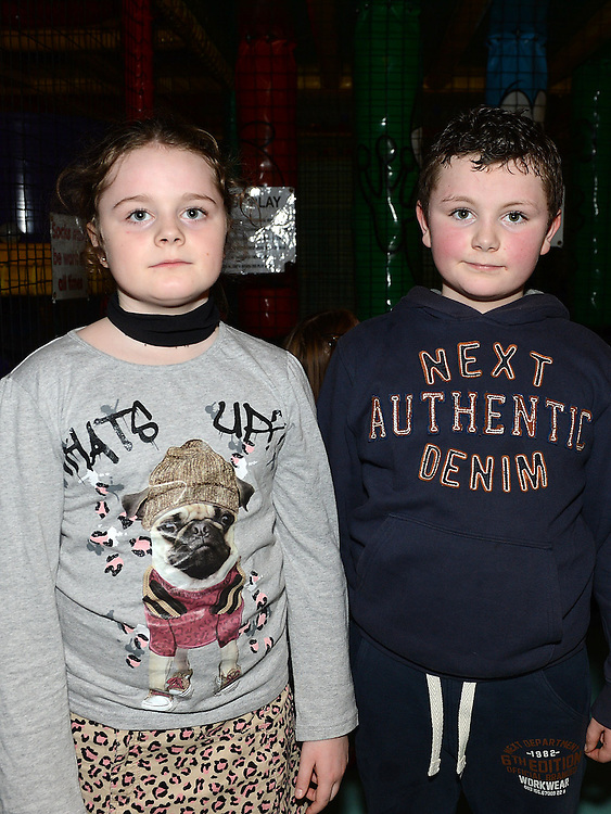 Lea and Jamie Bennett pictured at the Rathmullen Community House Christmas party at Drogheda Leisure Park. Photo:Colin Bell/pressphotos.ie