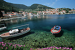 .Korcula island; Raisce harbour.Cruise in Croatia. Island of Dalmatia
