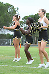 Palos Verdes, CA 09/16/11 - Song & Cheer in action during the Culver City-Peninsula Varsity football game.