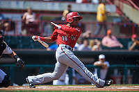 Harrisburg Senators shortstop Wilmer Difo (18) at bat during a game against the Erie Seawolves on August 30, 2015 at Jerry Uht Park in Erie, Pennsylvania.  Harrisburg defeated Erie 4-3.  (Mike Janes/Four Seam Images)