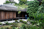 Kyoto, June 27 2013 - Gardener at Shugakuin Imperial villa