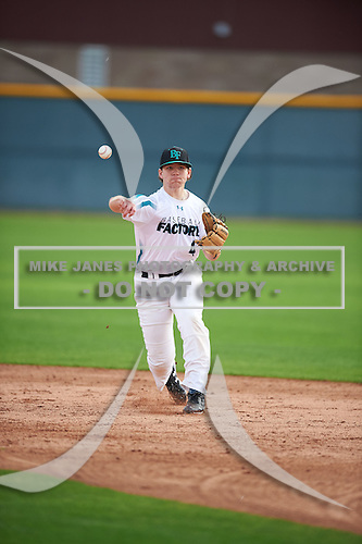 Noah Gent (4) of Grace Christian Academy High School in Corryton, Tennessee during the Under Armour All-American Pre-Season Tournament presented by Baseball Factory on January 14, 2017 at Sloan Park in Mesa, Arizona.  (Mike Janes/Mike Janes Photography)