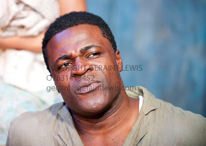 Moon on a Rainbow Shawl by Errol John, directed by Michael Buffong. With Danny Sapani as Ephraim. Opens at The Cottesloe Theatre at The National Theatre  on 14/3/12 . CREDIT Geraint Lewis