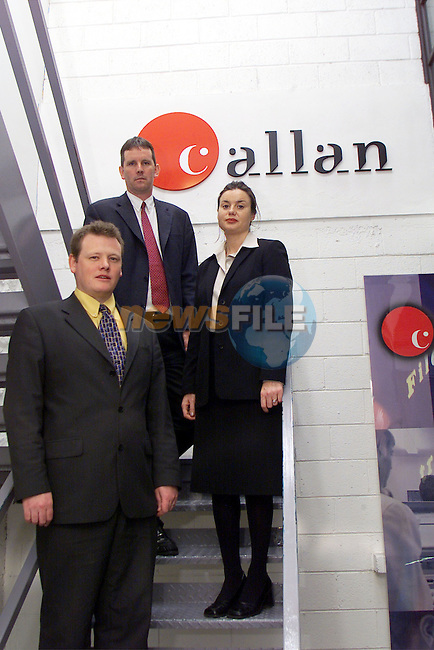 Vincent Reid, sales executive Callan Computers, John Donnelly, manager director of Callans Computers and Ann-Marie Doherty, Drogheda Chamber of Commerce pictured at Callans Computers in Drogheda..Picture: Arthur Carron/Newsfile