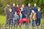 Neilie Shanahan presents the Working Members Stake trophy to Denise Burke at the Castleisland Coursing meeting on Monday front row l-r: Con Roche, Ruairi Burke, Hazel Burke, Andrew Moynihan, Darragh Burke. Back row: DJ Histon, Cieran Burke, Denise Burke, Neilie Shanahan, Paudie O'Shea and John Bandon.