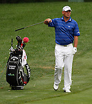 Thomas Bjorn (DEN) on the 10th fairway on day 1 of the World Golf Championship Bridgestone Invitational, from Firestone Country Club, Akron, Ohio. 4/8/11.Picture Fran Caffrey www.golffile.ie