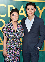 HOLLYWOOD, CA - AUGUST 07: Ice dancers Maia Shibutani (L) and Alex Shibutani arrive at the Warner Bros. Pictures' 'Crazy Rich Asians' premiere at the TCL Chinese Theatre IMAX on August 7, 2018 in Hollywood, California.<br /> CAP/ROT/TM<br /> &copy;TM/ROT/Capital Pictures