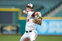 Sam Houston State Bearkats starting pitcher in action against the Vanderbilt Commodores in game one of the 2018 Shriners Hospitals for Children College Classic at Minute Maid Park on March 2, 2018 in Houston, Texas. The Bearkats walked-off the Commodores 7-6 in 10 innings.   (Brian Westerholt/Four Seam Images)
