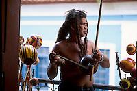 Reagee. Musical instrument: berimbau. City: São Luís; State: Maranhão; Brazil.