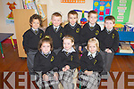 All smiles for Junior Infants from Scoil Mhuire, who started their school journey last Monday in Brosna. F l-r: Kate Sheehan, Eimear Murphy, Caoimhe Hawkins. B l-r: Cieran Murphy, Liam Connolly, Mark and David Lane and Darragh Barrett.