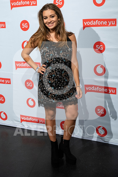 VODAFONE YU MUSIC SHOWS<br /> ESTOPA  in Concert. Photocall. <br /> Carlota Boza.<br /> October 2, 2019. (ALTERPHOTOS/David Jar)
