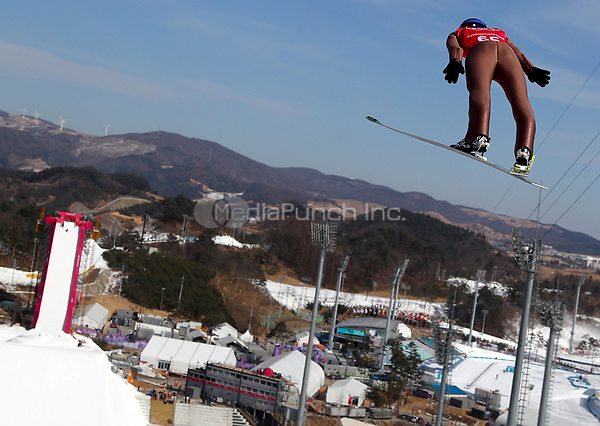 Ski jumper Kamil Stoch from Poland in the Alpensia Ski Jumping Centre in Pyeongchang, South Korea, 07 February 2018. The Pyeongchang 2018 Winter Olympics take place between 09 and 25 February. Photo: Daniel Karmann/dpa /MediaPunch ***FOR USA ONLY***