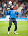 :: RANGERS' EL HADJI DIOUF DURING THE WARM UP ::