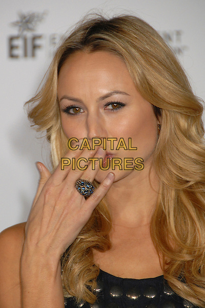 STACEY KEIBLER.2007 Movies Rock Celebration Presented by Conde Nast Media Group at the Kodak Theatre, Hollywood, California USA, 2 December 2007..portrait headshot hand ring over face mouth funny stacy.CAP/ADM/BP.©Byron Purvis/AdMedia/Capital Pictures.