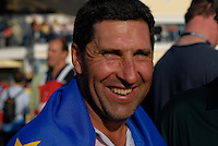 September 24th, 2006. European  Ryder Cup team player Jose Maria Olazabal after his team won the singles final session of the last day of the 2006 Ryder Cup at the K Club in Straffan,. County Kildare in the Republic of Ireland...Photo: Eoin Clarke/ Newsfile..