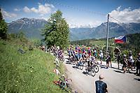 up the Cima Campo climb<br /> <br /> Stage 20: Feltre to Croce D'Aune-Monte Avena (194km)<br /> 102nd Giro d'Italia 2019<br /> <br /> ©kramon