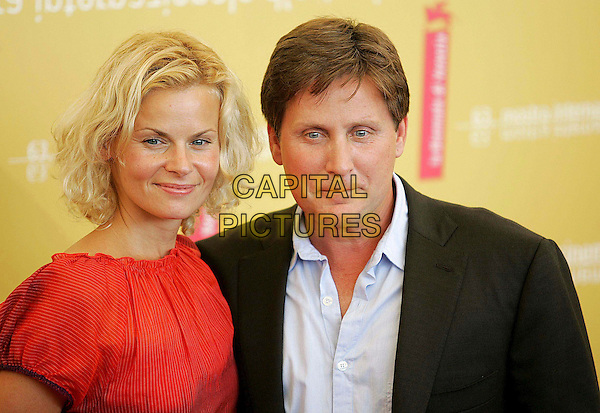 "EMILIO ESTEVEZ & SONIA (FIANCEE).Photocall for ""Bobby"" at the 63rd Venice International Film Festival, Venice, Italy. .September 5th, 2006.Ref: OME/GPA.headshot portrait.www.capitalpictures.com.sales@capitalpictures.com.©Omega/Capital Pictures."