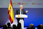 "Jose Manuel Garcia-Margallo during the 6th edition of the collecting badges to the new ambassadors fees ""Marca España"" in his 6th edition at BBVA City in Madrid, November 12, 2015.<br /> (ALTERPHOTOS/BorjaB.Hojas)"