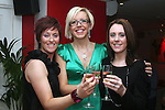 Catherine Baker, Michelle Egan and Bairbre Kelly as the Mumstown Operation Transformation Team Toast their Success in Romanza, Dyer Street...Photo NEWSFILE/Jenny Matthews.(Photo credit should read Jenny Matthews/NEWSFILE)....This Picture has been sent you under the condtions enclosed by:.Newsfile Ltd..The Studio,.Millmount Abbey,.Drogheda,.Co Meath..Ireland..Tel: +353(0)41-9871240.Fax: +353(0)41-9871260.GSM: +353(0)86-2500958.email: pictures@newsfile.ie.www.newsfile.ie.FTP: 193.120.102.198.