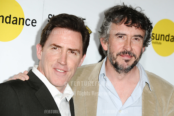 "Rob Brydon and Steve Coogan at the screening of ""The Trip To Italy"" as part of Sundance London 2014, O2 arena, London.  25/04/2014. Picture by: Steve Vas / Featureflash"