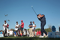 Adri Arnaus (ESP) on the 18th during the third round of the Mutuactivos Open de Espana, Club de Campo Villa de Madrid, Madrid, Madrid, Spain. 05/10/2019.<br /> Picture Hugo Alcalde / Golffile.ie<br /> <br /> All photo usage must carry mandatory copyright credit (© Golffile | Hugo Alcalde)