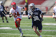 College Park, MD - April 8, 2017: Penn State Nittany Lions Drake Kreinz (38) runs with the ball during game between Penn State and Maryland at  Capital One Field at Maryland Stadium in College Park, MD.  (Photo by Elliott Brown/Media Images International)