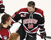 Colleen Murphy (NU - 10) is announced as a starter for the Huskies. - The Boston College Eagles defeated the Northeastern University Huskies 3-0 on Tuesday, February 11, 2014, to win the 2014 Beanpot championship at Kelley Rink in Conte Forum in Chestnut Hill, Massachusetts.