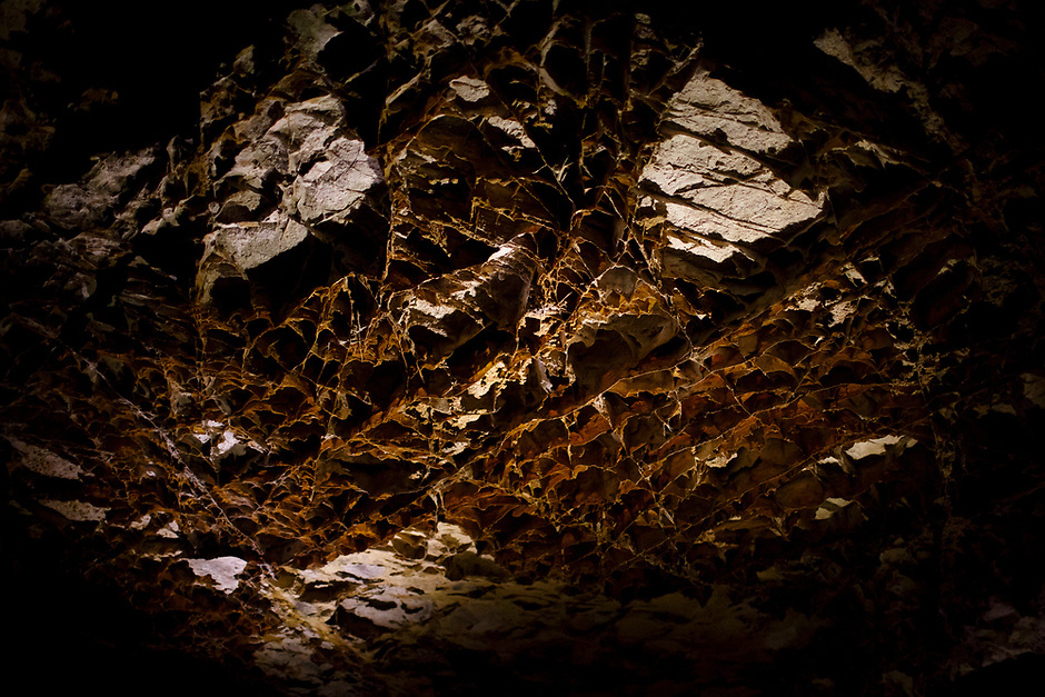 Boxwork, a rare type of mineral structure, is pictured within Wind Cave at Wind Cave National Park in South Dakota on Sunday, May 21, 2017. (Photo by James Brosher)