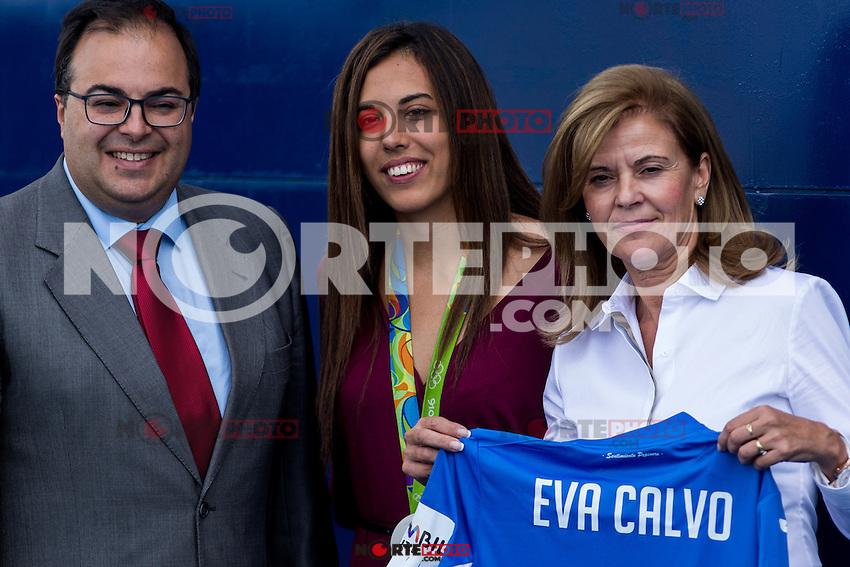 Club Deportivo Leganes's President Vcicotria PAvon and Eva Calvo during the match of La Liga between Club Deportivo Leganes and Futbol Club Barcelona at Butarque Estadium in Leganes. September 17, 2016. (ALTERPHOTOS/Rodrigo Jimenez) /NORTEPHOTO