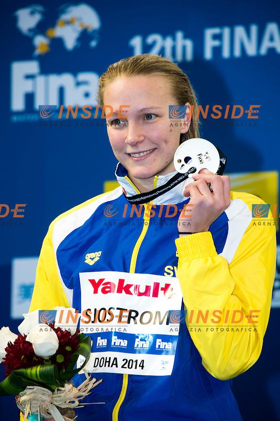 SJOSTROM Sarah SWE Silver Medal<br /> Women's 100m Freestyle Final<br /> Doha Qatar 05-12-2014 Hamad Aquatic Centre, 12th FINA World Swimming Championships (25m). Nuoto Campionati mondiali di nuoto in vasca corta.<br /> Photo Giorgio Scala/Deepbluemedia/Insidefoto