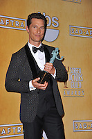 Matthew McConaughey at the 20th Annual Screen Actors Guild Awards at the Shrine Auditorium.<br /> January 18, 2014  Los Angeles, CA<br /> Picture: Paul Smith / Featureflash