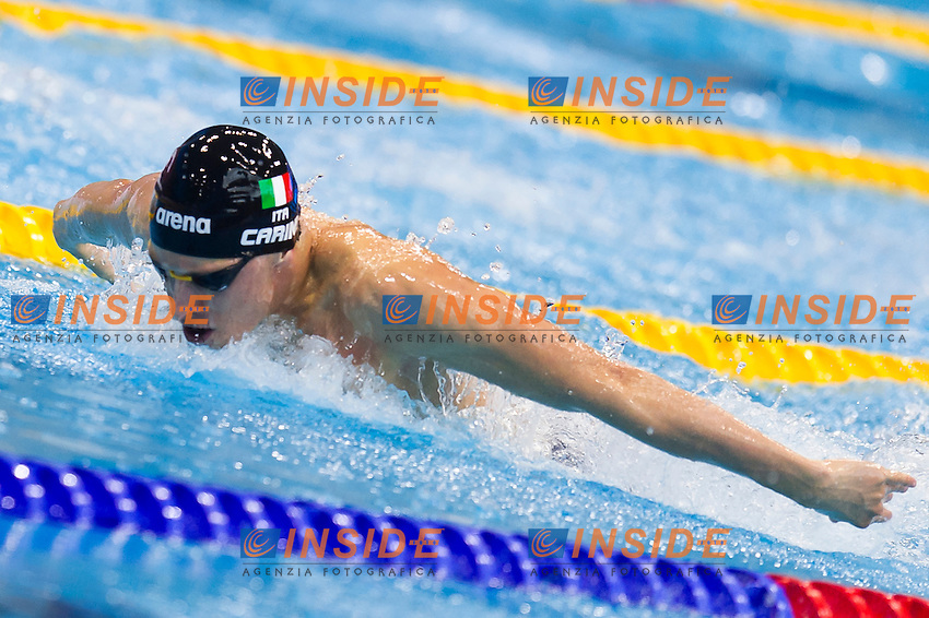 CARINI Giacomo ITA<br /> London, Queen Elizabeth II Olympic Park Pool <br /> LEN 2016 European Aquatics Elite Championships <br /> Swimming<br /> Men's 200m butterfly preliminary  <br /> Day 10 18-05-2016<br /> Photo Giorgio Perottino/Deepbluemedia/Insidefoto