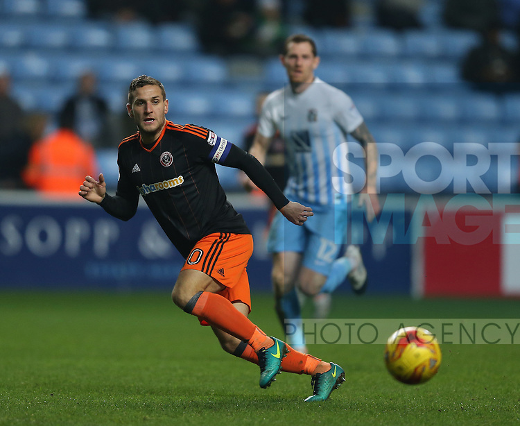 Billy Sharp of Sheffield Utd during the English League One match at the Rioch Arena Stadium, Coventry. Picture date: December 15th, 2016. Pic Simon Bellis/Sportimage