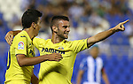 Villarreal's Mario Gonzalez and Rodrigo Hernandez during the XXXVII trophy of Legane's City between CD Leganes and Villarreal CF at Butarque Stadium. August 13, 2016. (ALTERPHOTOS/Rodrigo Jimenez)