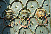Detail of the broze door of St Mark's Basilica, Venice