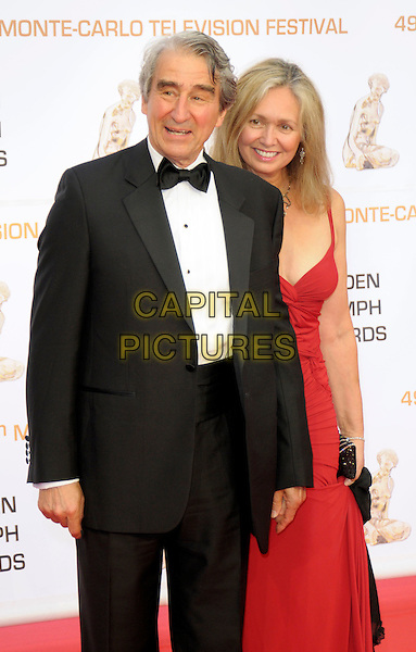 SAM WATERSTON & LYNN LOUISA WOODRUF.The Golden Nymph Awards - Closing Night Ceremony for the 49th Monte Carlo Television Festival, Grimaldi Forum, Monaco, France, .11th June 2009..half length red dress black tux tuxedo husband wife couple .CAP/RD .©Richard Dean/Capital Pictures