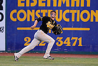 Jun. 1, 2010; Grand Junction, CO, USA; Southern Nevada Coyotes right fielder Bryce Harper tracks a fly ball against Iowa Western C.C. during the Junior College World Series as Suplizio Field. Southern Nevada won the game 12-7. Mandatory Credit: Mark J. Rebilas-