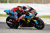 9th July 2020; Circuit de Barcelona Catalunya, Barcelona, Spain; FIM Superbike World Championship Test, Day Two; Augusto Fernández of the EG 00 Marc VDS Moto2 Team in action