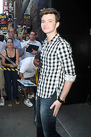 NEW YORK, NY - July 17, 2012: Chris Colfer at Good Morning America studios in New York City. &copy; RW/MediaPunch Inc. *NORTEPHOTO*<br />