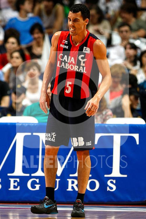 Caja Laboral´s Pablo Prigioni injured during La Liga ACB Playoffs semifinal last match, Madrid 2012/June/02..(ALTERPHOTOS/ARNEDO)