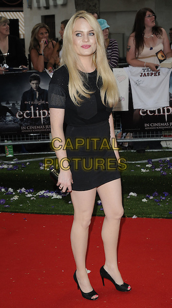 "DUFFY (Aimee Ann Duffy).UK Gala Premiere of ""The Twilight Saga: Eclipse"" at the Odeon Leicester Square, London, England, UK, July 1st 2010. .full length black dress open toe shoes clutch bag .CAP/CAN.©Can Nguyen/Capital Pictures."