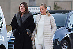 Spanish politic Cristina Cifuentes arrived to the wake of Bimba Bose at the La Paz tannery in Madrid. Spain. January 24th 2017. (ALTERPHOTOS/Rodrigo Jimenez)