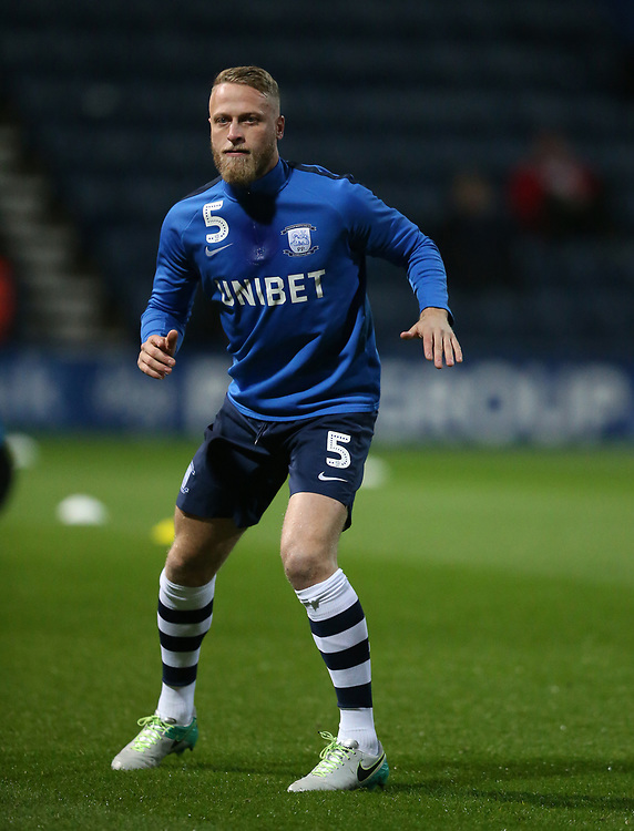 Preston North End's Tom Clarke during the pre-match warm-up <br /> <br /> Photographer Stephen White/CameraSport<br /> <br /> The EFL Sky Bet Championship - Preston North End v Middlesbrough - Tuesday 27th November 2018 - Deepdale Stadium - Preston<br /> <br /> World Copyright © 2018 CameraSport. All rights reserved. 43 Linden Ave. Countesthorpe. Leicester. England. LE8 5PG - Tel: +44 (0) 116 277 4147 - admin@camerasport.com - www.camerasport.com
