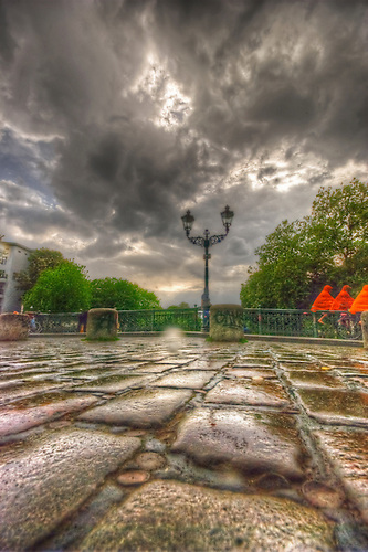 Kreuzberg in May, HDR shots<br /> Admiral-Br&uuml;cke X-Berg, just after a thunder storm.