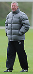 Manchester United Manager Sir Alex Ferguson during training before the champions league fixture against Barcelona Picture date 28th April 2008. Picture credit should read: Simon Bellis/Sportimage
