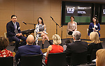 Patrick Morrow, Melanie Schnoll-Begun, Andrea Levine Sanft and Audrey Choi during An Evening Of Legacy, Philanthropy & Music For The Benefit Of The Dramatists Guild Foundation at Morgan Stanley Headquarters on May 13, 2019 in New York City.