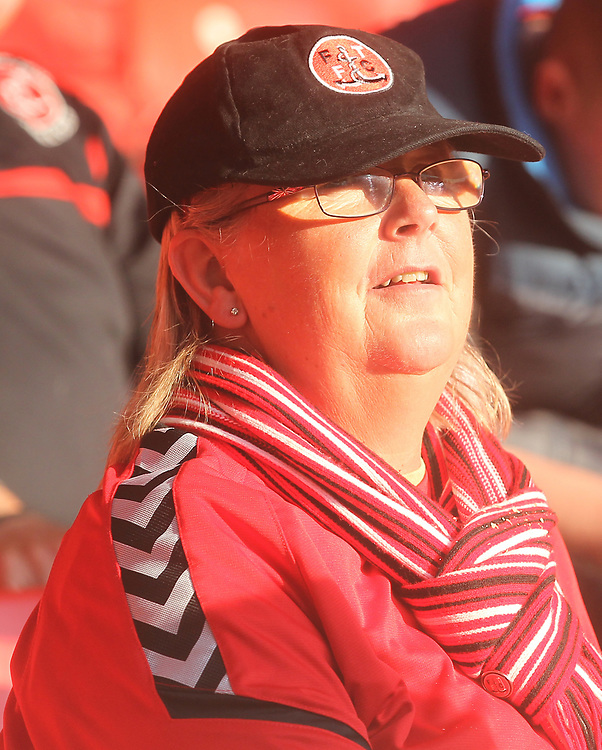Fleetwood Town's Fans<br /> <br /> Photographer Mick Walker/CameraSport<br /> <br /> The Carabao Cup First Round - Nottingham Forest v Fleetwood Town - Tuesday 13th August 2019 - The City Ground - Nottingham<br />  <br /> World Copyright © 2019 CameraSport. All rights reserved. 43 Linden Ave. Countesthorpe. Leicester. England. LE8 5PG - Tel: +44 (0) 116 277 4147 - admin@camerasport.com - www.camerasport.com