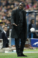 AC Milan's coach Clarence Seedorf during Champions League 2013/2014 match.March 11,2014. (ALTERPHOTOS/Acero)